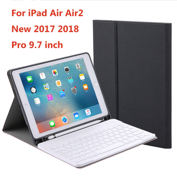 Wireless Bluetooth Keyboard Ultra-Slim Mini Keyboard Case For iPad Air 1 2 New 2017 2018 Pro 9.7 inch Tablet With Pencil Holder