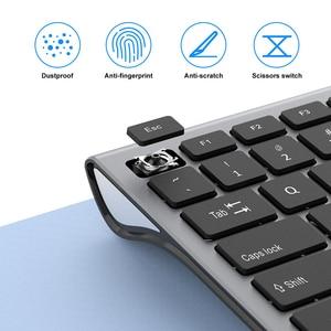 Image 3 - SeenDa Dünne 2,4G Wireless Tastatur für Laptop Desktop Schere Schalter Tastatur für Windows Mac OS Volle Größe 109 Schlüssel tastatur