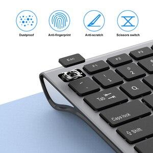 Image 3 - SeenDa Thin 2.4G Wireless Keyboard for Laptop Desktop Scissors Switch Keyboard for Windows Mac OS Full Size 109 Keys Keyboard