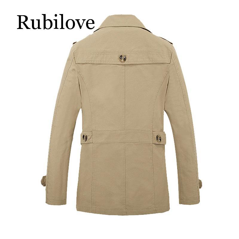 Rubilove Brand New Men 39 s Casual Trench Coat Wind Breaker Fashion Designer Plus Size Casual Trench For Men Pull Homme Outwear in Trench from Men 39 s Clothing