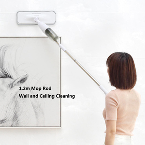 Image 4 - Deerma 워터 스프레이 청소 스위퍼 진공 청소기 먼지 헝겊 360 회전 청소 헝겊 무선 걸레 바닥 청소기