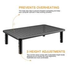 3 höhe Einstellbar Mit Mesh Plattform Eisen Platte Monitor Kühlung Stand Riser Tragbare Wärmeableitung Halterung Für laptop