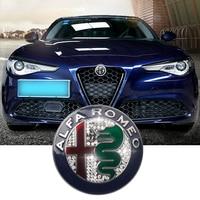 1pcs silvery Color 74mm 7.4cm for ALFA ROMEO giulietta Stelvio diamond Car Logo emblem Badge sticker for Mito 147 156 159 166