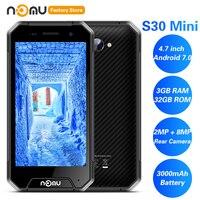IP68 NOMU S30 мини 4G смартфон 4,7 'Android 7,0 MTK6737VWT четырехъядерный 1,5 ГГц 3 ГБ 32 ГБ 8.0MP водонепроницаемый 3000 мАч мобильные телефоны