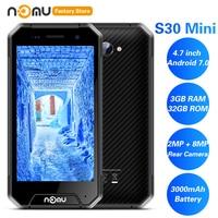 IP68 NOMU S30 Mini 4G Smartphone 4.7' Android 7.0 MTK6737VWT Quad Core 1.5GHz 3GB 32GB 8.0MP Waterproof 3000mAh Cellphones
