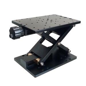 Cric manuel de laboratoire à axe Z | Levage manuel précis, élévateur, levage coulissant optique, table linéaire pour voyage de 120mm