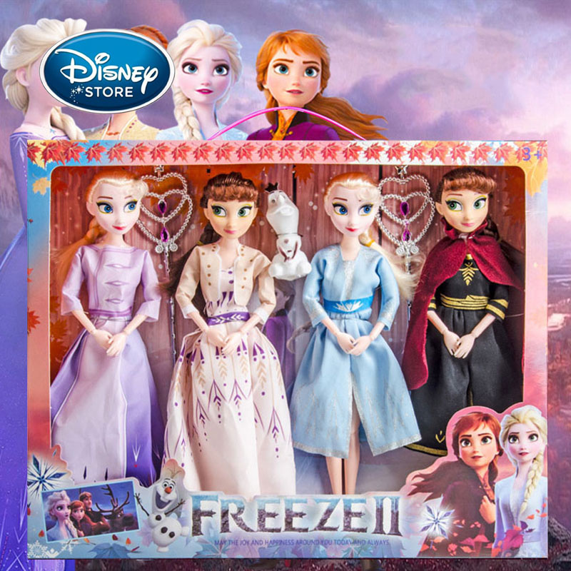 Disney Frozen 2 Princess Elsa Anna Doll Snow Queen Doll Girls Outfits Accessories DIY Toy Birthday Christmas Gifts Handmade Toy