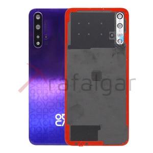 Image 5 - Оригинальная задняя крышка батарейного отсека для Huawei Nova 5T, задняя крышка корпуса, задняя панель + объектив камеры для Huawei Nova 5T, Крышка батарейного отсека