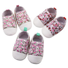 2019 Spring Autumn Soft Sole Anti-slip Baby Shoes Canvas Sports Sneakers Newborn Baby Boys Girls First Walkers Shoes(China)