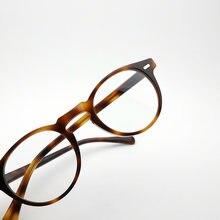Очки в ацетатной оправе для мужчин круглые очки по рецепту новая