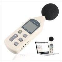 30 130dB Digital Sound Level Meter 0.1dB LCD Noise Frequenz Tester AC/PWM Ausgang Daten Speicher Kalender SCHNELL/LANGSAM USB + CD Software-in Schallpegelmesser aus Werkzeug bei