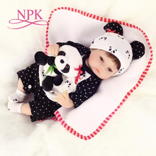 NPK 40cm New slicone reborn baby doll toy for girls play house toys for kid vinyl newborn girl babies dolls lifelike cute sd bjd 1 4 doll toy for kid baby birthday gift vinyl lifelike play house girl brinquedos girl joint simulation dolls