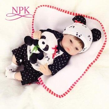 NPK 40cm New slicone reborn baby doll toy for girls play house toys for kid vinyl newborn girl babies dolls lifelike