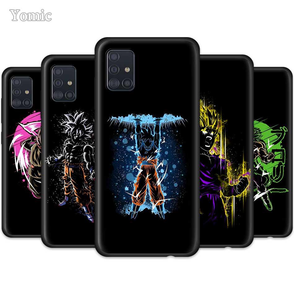 Dragon Balls Goku Case For Samsung Galaxy A50 A51 A70 A71 A20e A40 S20 S10e S10 Plus Black Soft Cell Phone Cover Note 10 Lite