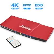 Tesla smart 2 input 8 output hdmi переключатель сплиттер 2x8