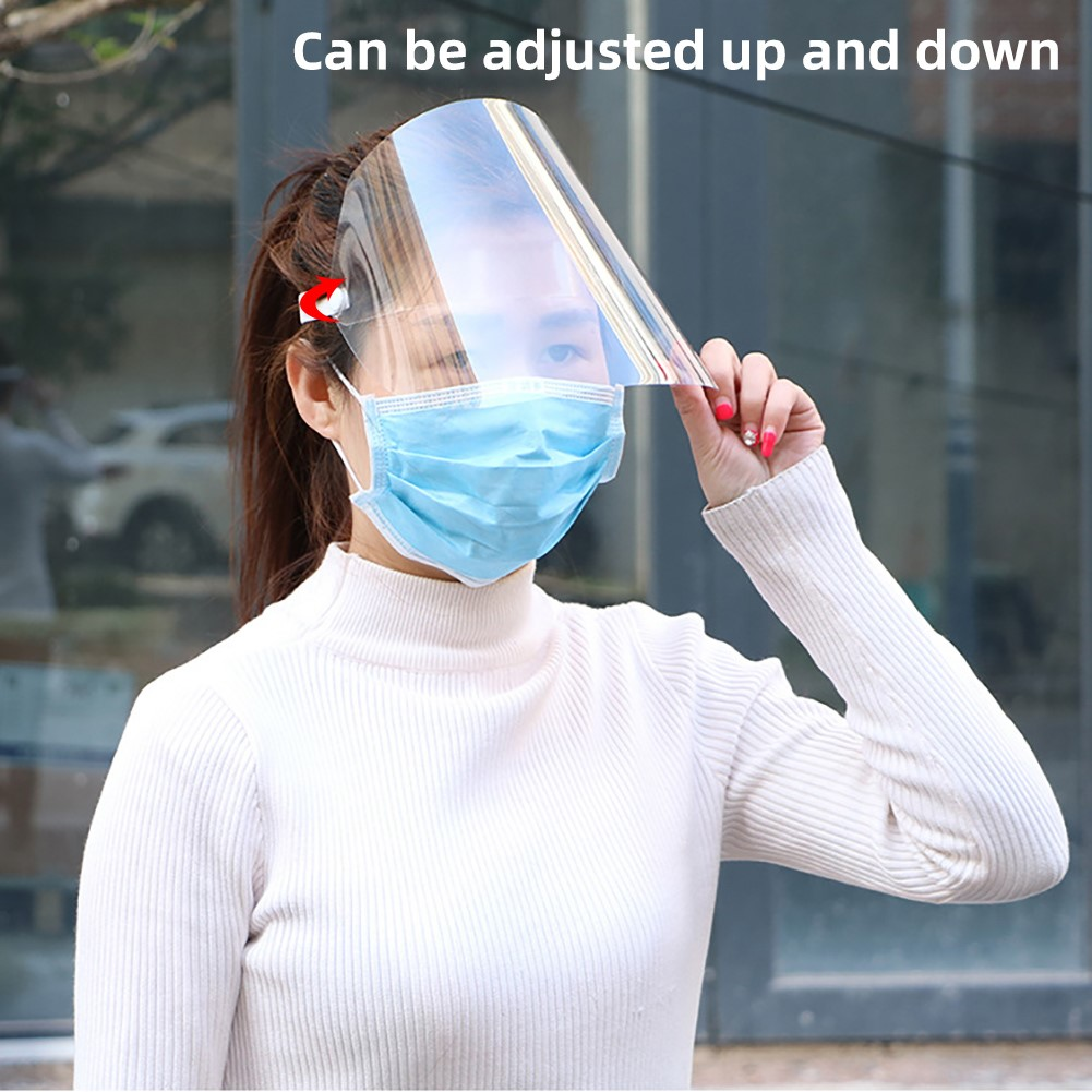 Spring Coronary Transparent Mask Protective Face Shield Transparent PVC Anti-fog Saliva And Anti-virus Protection