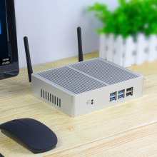 Barato fanless mini pc htpc intel core i5 7200u 4210y i3 7100u i7 5500u windows 10 computador desktop ddr3l wifi vga gráficos 5500