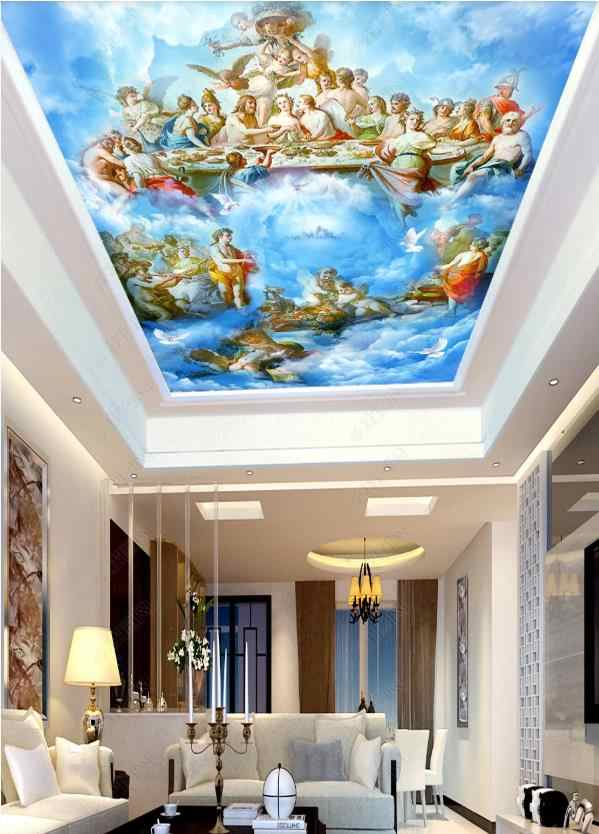 3d Wallpaper Ceiling Angel Oil Painting Wall Mural Living Room Bedroom Home Decor Wall Paper For Walls 3 D Ceiling Wallpapers Aliexpress