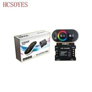 Image 2 - 12 24V 18A RF מרחוק אלחוטי משטח מגע פנל RGB LED בקר בקרות עבור 5050 3528 RGB אור RGB בקר