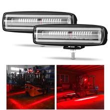DERI gabelstapler Led Warnung Licht 18 W Red Zone Gefahr Bereich licht Lager Gabel Lkw System Safty Arbeiten lichter LED Bar
