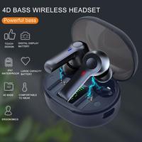Auriculares inalámbricos R22 TWS con Bluetooth 5,0, miniauriculares estéreo HIFI con micrófono incorporado, envío directo