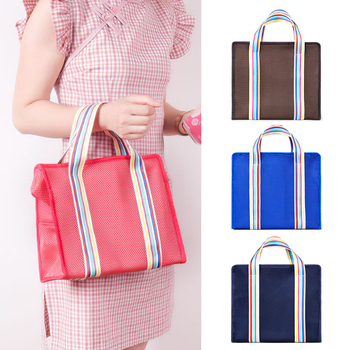 Large Capacity Portable Insulation Lunch Bag Thermal Food Picnic Lunch Box Storage Bag Keep Warm Fresh Cold недорого
