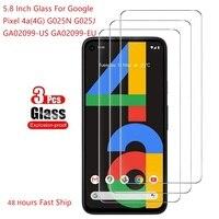 3PCS Schutz Glas Auf Für Google Pixel 4a 4g Screen Protector Gehärtetem Glas Für Google Pixel 4a 5,8 zoll G025N G025J GA02099