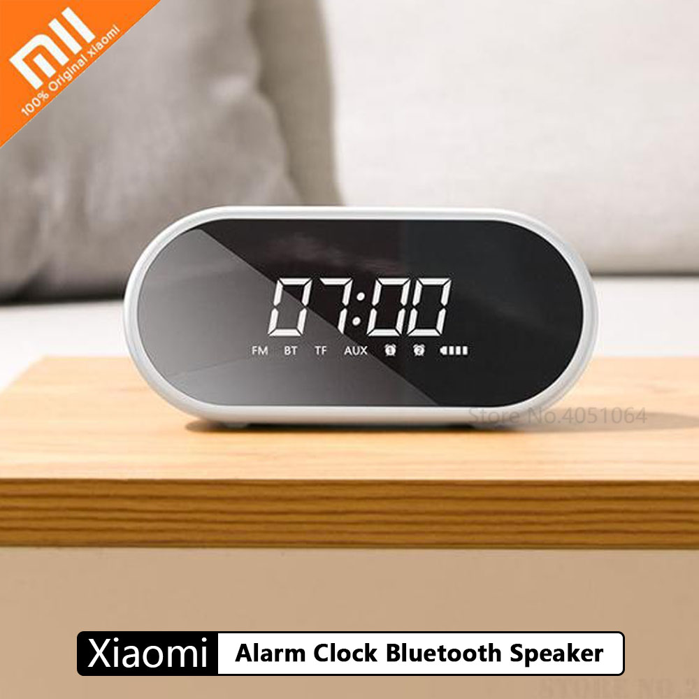 Xiaomi Alarm Clock Bluetooth Speaker Household Subwoofer Mirror Portable Radio 3D Surround 10M Transmission Ring Atmosphere Ligh