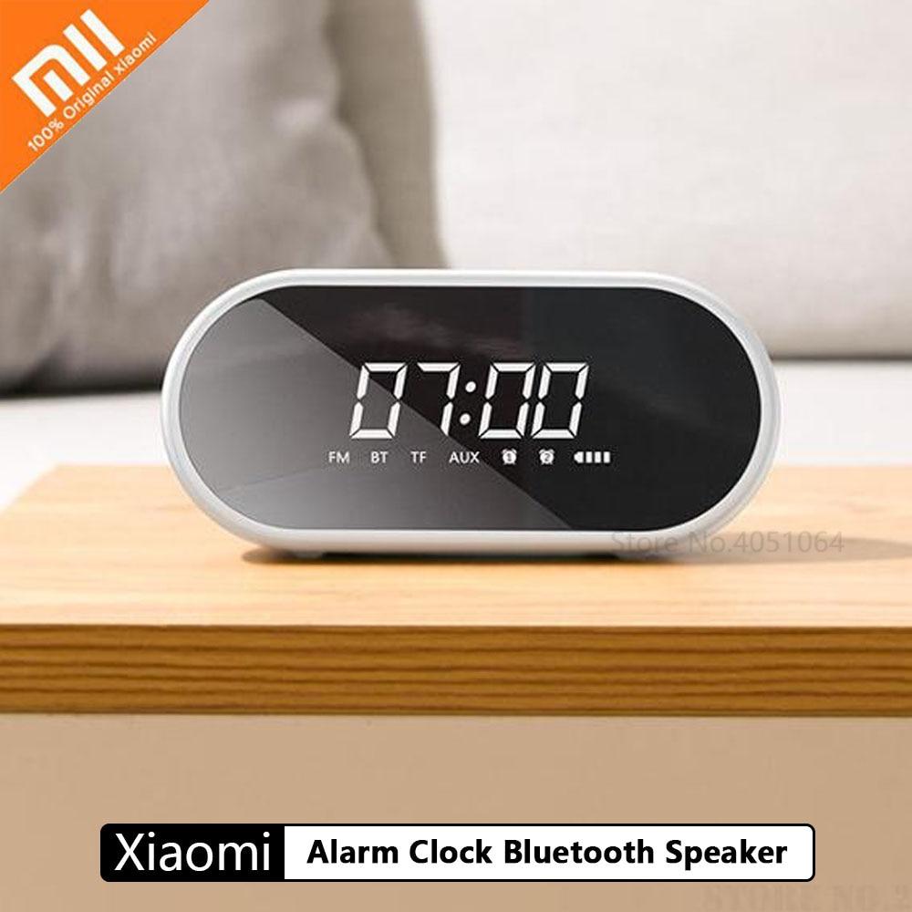 Xiaomi Alarm Clock Bluetooth Speaker Household Subwoofer Mirror Portable Radio 3D Surround 10M Transmission Ring Atmosphere Ligh