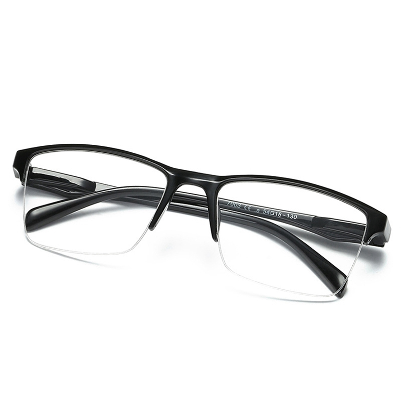 Fashion Half Frame Reading Glasses Presbyopic Eyewear Male Female Far sight Glasses With Strength +25 +50 +75 +100 To +400