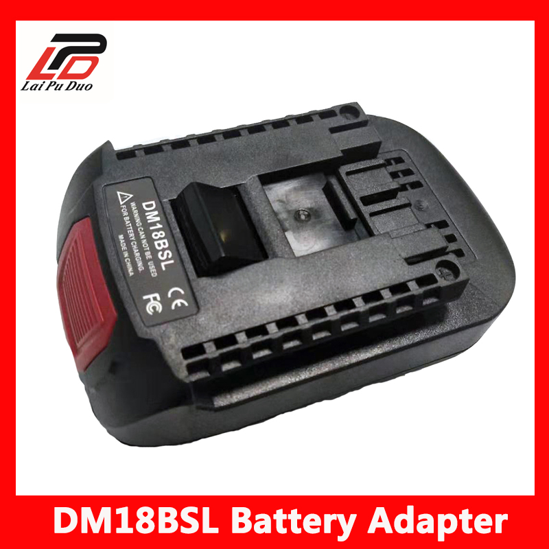For Milwakee <font><b>18V</b></font> M18 and For <font><b>Dewalt</b></font> 20V Li-ion Battery Used to For Bosch <font><b>18V</b></font> Tool battery DM18BSL Battery Converter <font><b>Adapter</b></font> image