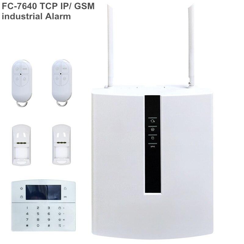 Focus przemysłowy System alarmowy FC-7640 ABS RJ45 Ethernet tcp/ip inteligentny Alarm domowy zabezpieczenie gsm System alarmowy z 128 przewodową strefą magistrali