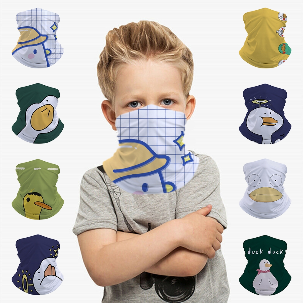 Cute Duck Kids Seamless Bandana Headband Face Mask Tube Scarf Balaclava Headwear