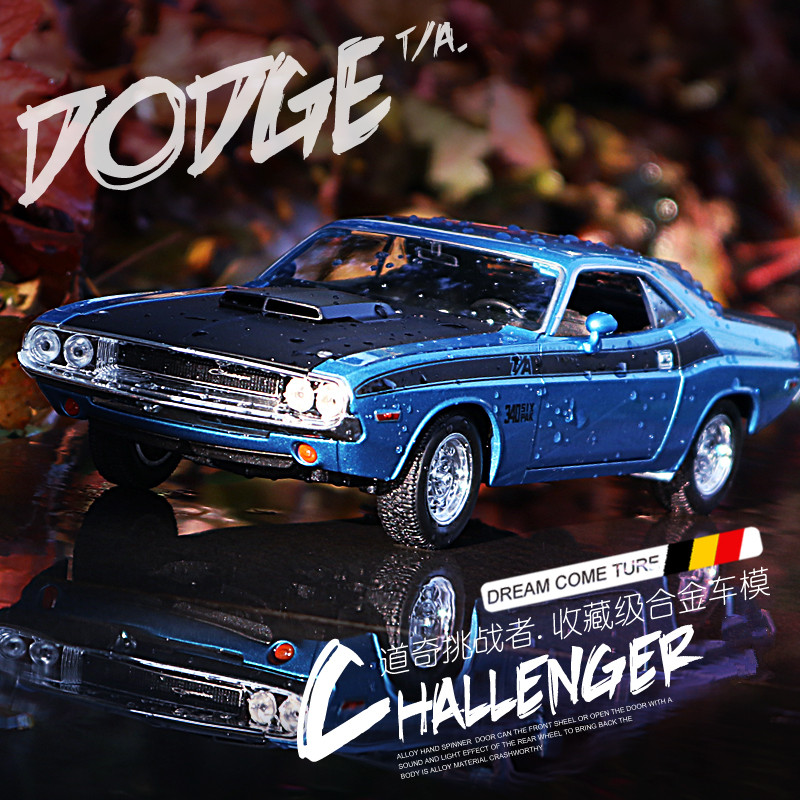 WELLY  1:24 Dodge Challenger   Car Alloy Car Model Simulation Car Decoration Collection Gift Toy Die Casting Model Boy