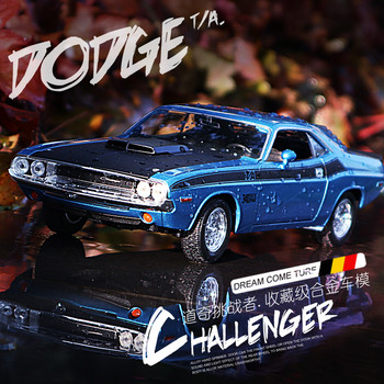 WELLY  1:24 Dodge Challenger   car alloy car model simulation car decoration collection gift toy Die casting model boy welly 1 24 mercedes amg gtr green car alloy car model simulation car decoration collection gift toy die casting model boy toy