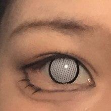 1 par de lentes de contato hinata hyuga natal cosméticos cosplay anime branco malha & borda contatos coloridos não prescrição