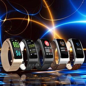 Image 3 - B5s Bluetooth earphone wireless earbud smart headset watch with microphone Smart Bracelet Waterproof touch screen music play