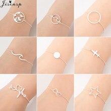 Jisensp – bijoux de tous les jours en acier inoxydable Bracelets pour Femme, avion Simple ajustable, cadeau pour Femme, Bracelet à breloques