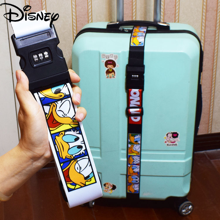Disney Mickey Mouse Minnie Suitcase Bundled Rope Code Lock Packing Belt A Cross with Reinforced Rope