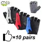 Dérive MANIAC cyclisme demi doigt gants 10 paires pour utilisation en équipe vélo vélo équitation en plein air