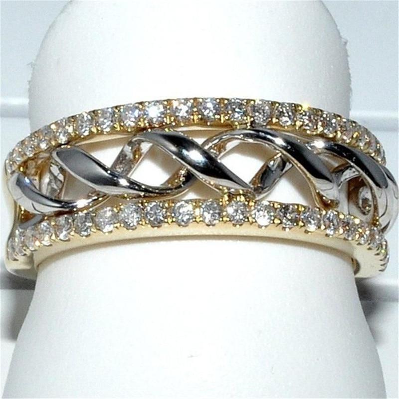 2019 Новая мода Крест Кристалл Кольца для женщин ювелирные изделия Серебряное кольцо на палец Женское Обручальное кольцо женские обручальные кольца Femme подарки