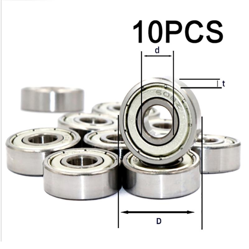 10pcs Deep Groove Ball Bearing High-carbon Steel 608ZZ-RS 623zz 624zz 625zz 626zz 627zz 628zz 688zz