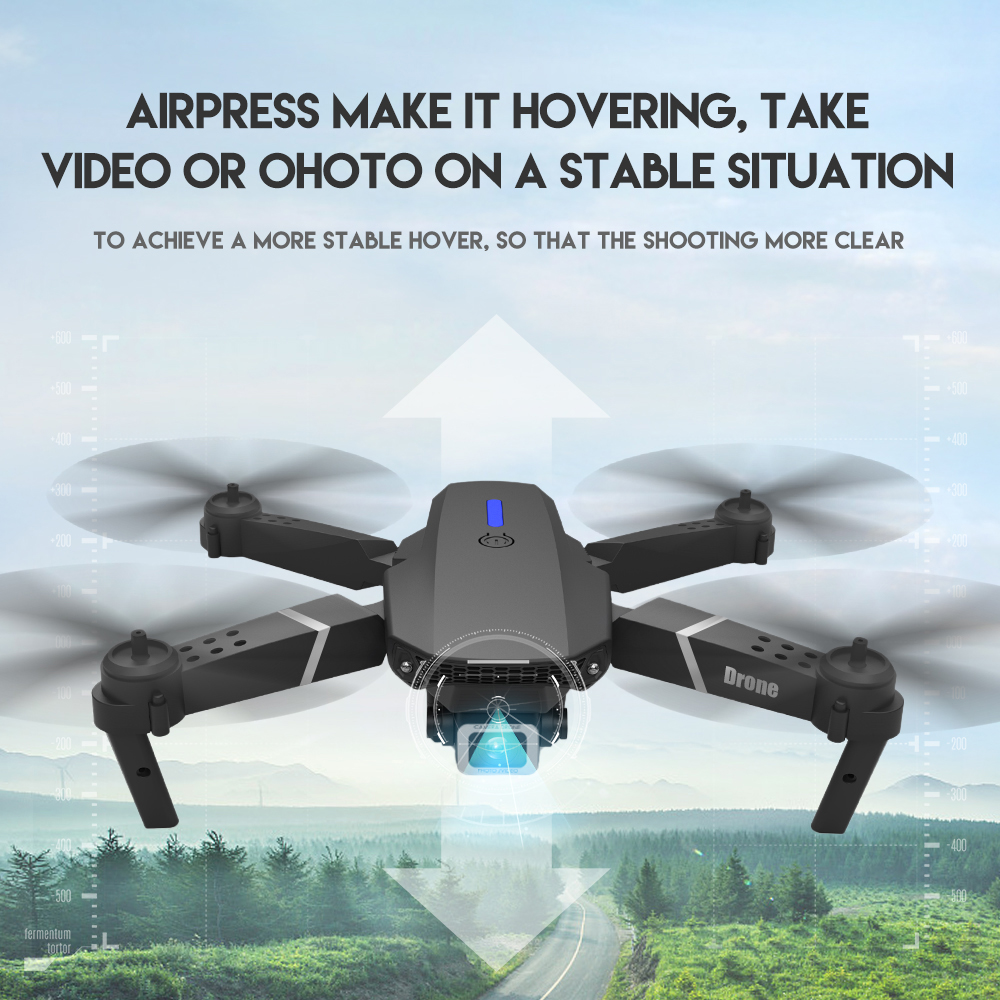LSRC new RC drone E525 WIFI FPV and wide-angle high-definition 4K dual camera height keep foldable quadrotor dron gift toy 3