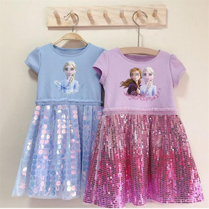 Princess Elsa 2 Dress Girl Costume Kids Dresses For Girls Baby Anna Elsa Dress Up Children Party Snow Queen Party Wear Clothes(China)