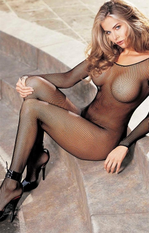 Sexi Women Fishnet Night Dress Hot Bodycon Clubwear Vestido Sexy Costumes Catsuit Erotic Transparent Midi Dresses mujer porno 18