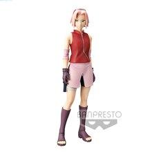 Tronzo 26cm Original Banpresto Grandista Shinobi Relations Naruto Shippuden Haruno Sakura PVC Action Figure Model Toys