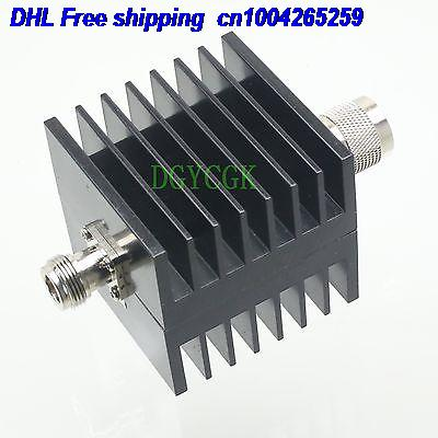 DHL 10pcs Attenuator N 50W 30dBi Male Plug To Female Jack DC-3.0GHZ 50ohm RF Coaxial M/F Attenuator 22ra