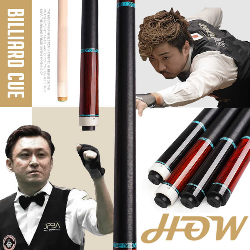 HOW Billiard Pool Cue Maple shaft  12.5mm Tip Naoyuki Oi endorsement Handmade Ebony cocobolo wood Stick Kit Excellent experience