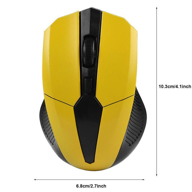 Portable 319 2.4Ghz Wireless Mouse Adjustable 1200DPI Optical Gaming Mouse Wireless Home Office Game Mice for PC Computer Laptop 5