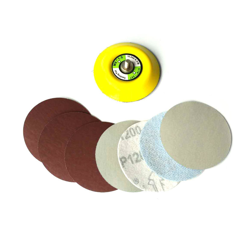 3-Inch 75 Size Flocked Sandpaper Round Plates Napper Bei Rong Pneumatic Abrasive Polishing Sheet Point Dry Grinder Supporting Mi